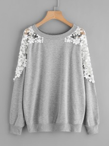 lace flower jumper