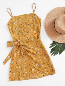 spring dress yellow