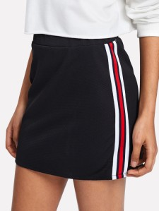 stripe p.e skirt